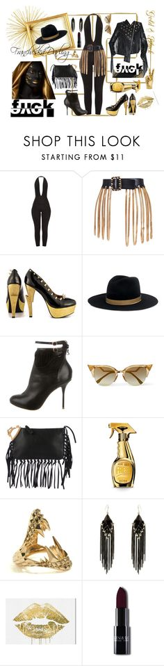 """""""Who Did That? Mad as a HATter"""" by francheskadarling ❤ liked on Polyvore featuring Chanel, Rat Baby, Janessa Leone, Sophia Webster, Fendi, Valentino, Moschino, Kasun, Erica Lyons and Oliver Gal Artist Co."""