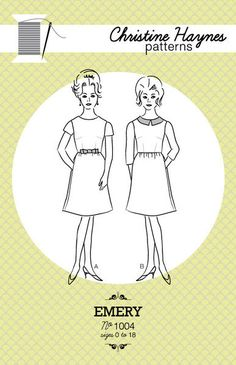 Emery Dress Pattern by Christine Haynes Patterns  by Owlanddrum, $18.00
