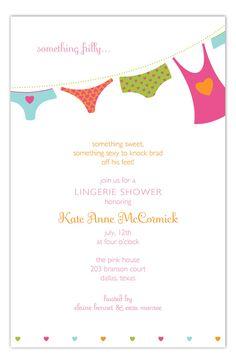Something Frilly #Bridal #Lingerie Invitation