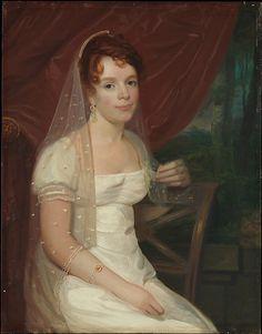 """""""Mrs. Anne Brown Dickey"""", John Wesley Jarvis, ca. 1808; MMA 69.22.2"""