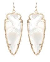 Skylar Earrings in Ivory Pearl- Kendra Scott Jewelry.