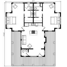 Renderings and Floor Plans 2 Bedroom House Plans, Cottage Floor Plans, Cabin Floor Plans, Bird House Plans, New House Plans, Small House Plans, Little Houses, Small Houses, Floors And More