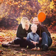 Honoring our Sawyer with an orange balloon in our first official family photo since his passing.