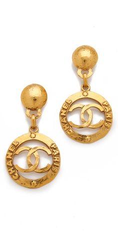 WGACA Vintage Vintage Chanel CC Earrings
