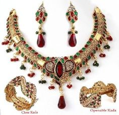 Amazon.com: Sharnam Art Jewellery Necklace set 6698-90242: Jewelry