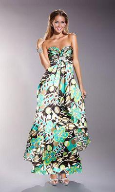 vestidos de flores elegantes largos - Buscar con Google