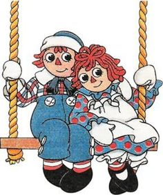 Girl Cute Raggedy Ann & Andy Swinging on a Swing Cartoon Movies, Cute Cartoon, Free Adult Coloring Pages, Ann Doll, Raggedy Ann And Andy, Stone Crafts, Vintage Children, Paper Dolls, Cute Kids