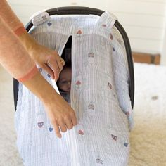 Pin for Later: These Are the 10 Baby Products We Couldn't Live Without This Year Bebe Au Lait Muslin Stroller Covers