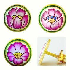 Water Lilies,  Blue Bells, and Lotus Eaters. Handcrafted in 14.4 gms of 23 Karat pure Gold plus KDM.  #languageofflowers #heirloom