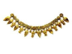 una collana della PERSEFONE di TARANTO  gli ACROLITI di MORGANTINA erano probabilmente adornati di simili collane