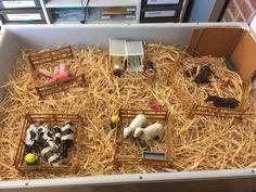 Boerderij in de zandtafel Preschool Education, Preschool Themes, Dementia Activities, Toddler Activities, Farm Animals Preschool, Early Years Classroom, Tuff Spot, Farm Theme, Animal Projects