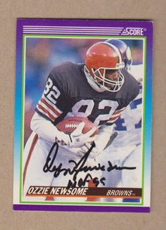 838052eb791 Ozzie Newsome signed 1990 Score card Football Conference, Cleveland Browns,  Football Cards, American