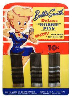 """It went: Bob pins, Bobbing pins, """"Bobbie"""" pins, and finally: Bobby pins"""