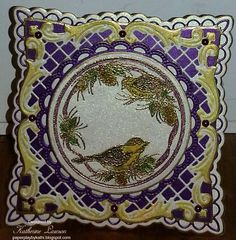 Bird ornament Card with Noor! Dies and Creatables