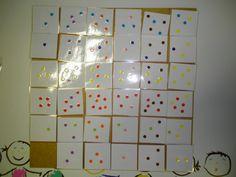 Matrix niveau 4: gekleurde sneeuwvlokjes Meer ideetjes rond thema winter: *liestr*