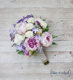 Lavender Peony and Widflower Bouquet - Silk Wildflower Bouquet, Wildflower Bouquet, Silk Bouquet, Silk Wedding Bouquet, Boho Bouquet, Rustic by blueorchidcreations on Etsy