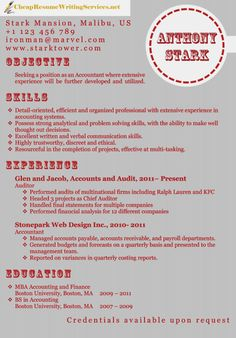 Accountant resume sample http://www.cheapresumewritingservices.net/