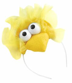 Cute idea for chicks. If you separate the eyes and use orange for the beak it won't look like Big Bird.