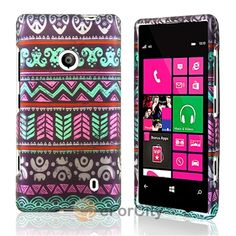 For Nokia Lumia 521 Hard Rubberized Design Tribal Cover Case Snap on Shell | eBay