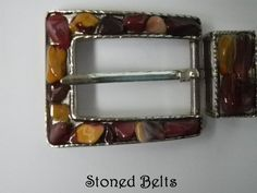Maroon Belt Buckle Mookite Gold and Maroon JASPER by StonedBelts