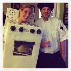 Bun In The Oven & Bun Baker Pregnancy and/or Gender Reveal Halloween Costume