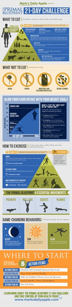 Mark's Daily Apple 21 Day Challenge - Or just a really good info graphic of the Primal lifestyle
