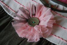 M2M Matilda Jane Tutu / Mesh Bag Hairbow (Pink)