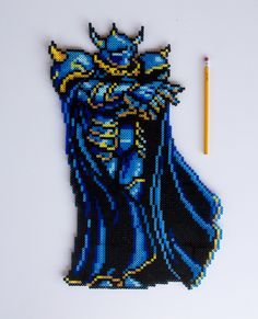 Final Fantasy IV Golbez perler beads by PressBeadToStart