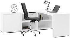 Lecco Schreibtisch/Wohnwand mit Aktenschränkchen, in verschiedenen Farben erhältlich