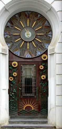 Sun flower door