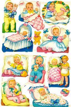 Scraps Art Crafts Sheet Baby Babies Teddies Infants You Choose Oblaten Kinder Vintage Baby Pictures, Images Vintage, Vintage Paper Dolls, Vintage Toys, Christmas Decals, Retro Toys, Baby Kind, Sweet Memories, Childhood Memories