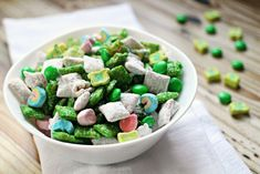 Muddy Buddies are a classic, addictive treat and these St. Patrick's Day Muddy Buddies are no exception to the rule!