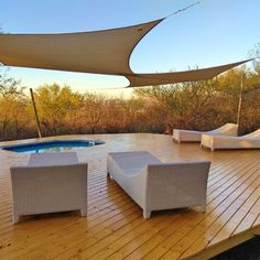 At the breathtaking Thulani Game Lodge & Eco Estate in Limpopo you can relax like there's no tomorrow! Game Lodge, Game Reserve, Kick Backs, Outdoor Furniture, Outdoor Decor, Sun Lounger, Outdoor Living, Swimming Pools, Relax