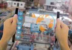 futuristic, Minimalistic, Transparent Tablet, Concept, tech, innovation, gadget, device, technology, Thomas Laenner, sci-fi, glass,metallic frames, fantastic, transparent display, augmented reality,
