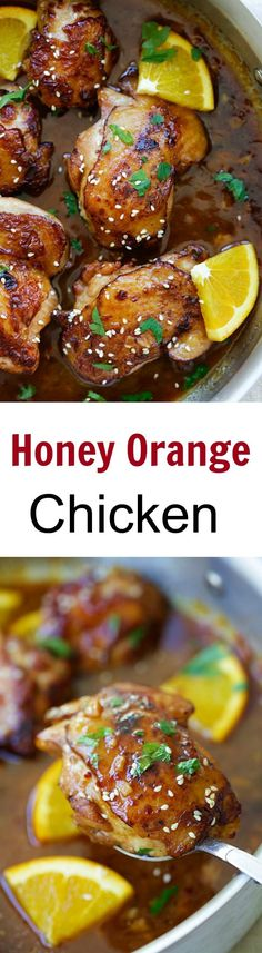 Honey Orange Chicken. Wonderful flavours in this recipe and happen to have all the ingredients in my pantry & coriander growing in my garden. Keva xo.