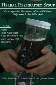 An Easy Herbal Respiratory Syrup To Calm Your Cough Quickly | Growing Up Herbal | An herbal cough syrup for dry, hacking coughs from The Healing Kitchen.
