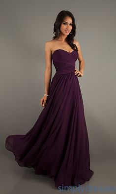 Dress, Floor Length Strapless Mori Lee Gown - Simply Dresses