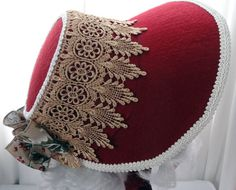Christmas Bonnet for Mrs. Claus or Victorian by MrsClausCreations
