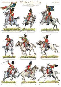 """Dragoni inglesi del 2 rgt. """"Royal North Dragoons"""""""