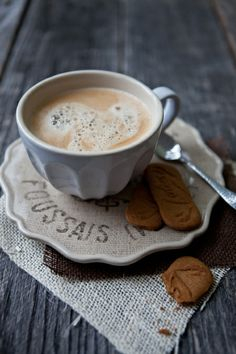 Coffee:  .with biscoff cookies