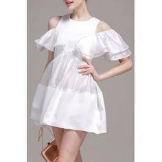 Холодная плеча Сращивание мини-платье  #Холодная #плеча #Сращивание #мини-#платье