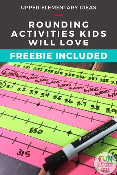 Are you looking for some fun and engaging ways to teach rounding numbers in upper elementary?  Angie from Fun in 5th grade has some GREAT ideas!  Rounding numbers can be a challenging concept for a lot of kids!  Check out these FREEBIES and help your kids learn rounding with these awesome tips, anchor charts and games!  Everything you need to introduce rounding numbers to teaching to reviewing!