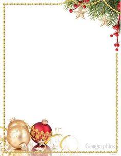 Ornaments  Pine Christmas Letterhead Gold Foil X Pk