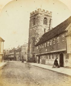 """This is the Grammar School and Tower of the Guild Chapel. """"Shakespeare - His Birthplace, Home and Grave."""" State Library of NSW, State Library New South Wales, 17 Apr. Braids Band, Grammar School, South Wales, Shakespeare, Notre Dame, Weaving, Tower, Building, Travel"""