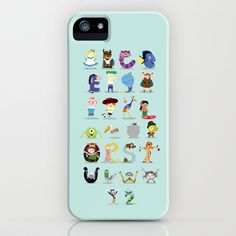 Animated characters abc iPhone & iPod Case by Maria Jose Da Luz - $35.00