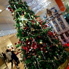 Xmas tree in a department store