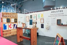"""My next stop was Holstee, a clean and retro styled company with a little Brooklyn flair. I really loved their art prints, posters and overall vibe. Everything they had on display felt very smart, but also cozy and inviting. Like a friend who is way more intelligent than you, but who doesn't make you feel inferior."" 2015 NSS show review from @enchantmentblog: thank you so much!"