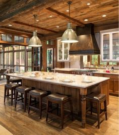 More ideas below: Rustic Large Kitchen Layout Design Farmhouse Large Kitchen Window Luxury Large Kitchen Island and Rug Modern Large Kitchen Decor Ideas Large Kitchen Floor Plans Remodel New Kitchen, Kitchen Decor, Island Kitchen, Kitchen Ideas, Kitchen Cabinets, Smart Kitchen, Kitchen Seating, Country Kitchen, Awesome Kitchen