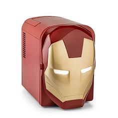 Iron Man Mini-Fridge keeps your 6-pack cold for you in style.