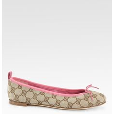 Gucci Ali Gg Ballet Flats found on Polyvore